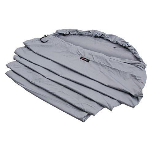 Wilsa Outdoor Drap de Sac de Couchage Sarcophage Capuche 100% Polyester 230x80 cm Gris, 150020