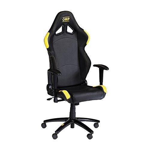 Omp Bürostuhl mit Armlehne Schwarz-Gelb Gaming Stuhl Schreibtischstuhl Chefsessel Racingstuhl Gaming