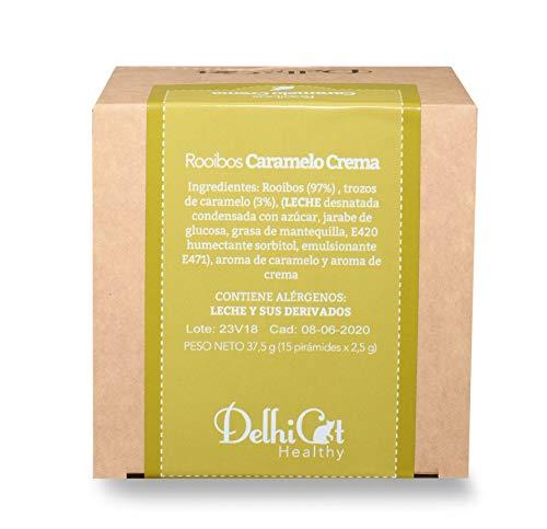 Rooibos Caramelo Crema Delhicat Healthy 15 Unidades