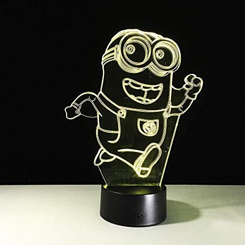 Schöne 3D Illusion Minions Lampe Sensor Nachtlicht Led-beleuchtung Touch Tischlampe Nachtlicht Hause Kinder Schlafzimmer Dekor