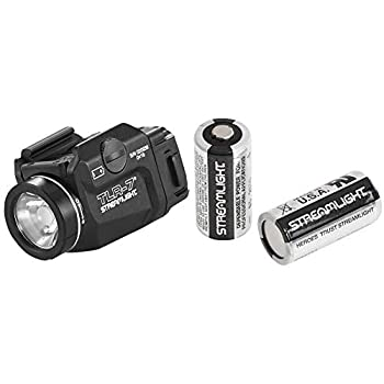 STREAMLIGHT 69420 TLR-7 Low Profile Rail Mounted Tactical Light Black - 500 Lumens & 85175 CR123A Lithium Batteries 2-Pack