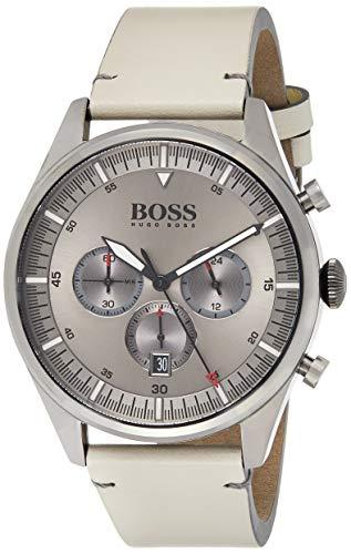Hugo Boss Herren Chronograph Quartz Uhr mit Leder Armband 1513710