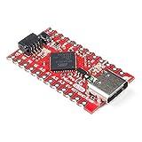 SparkFun Qwiic Pro Micro - USB-C (ATmega32U4) - Compatible with Arduino development board 5V/16MHz microcontroller AP2112 3.3V Voltage Regulator Castellated PTH pin pads Reset button Maximum 6V input