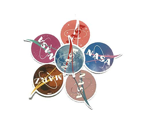 ZJJHX American Airlines Trends NASA Equipaje Maleta Portátil Monopatín Nevera Guitarra Etiqueta de Coche 6 Piezas