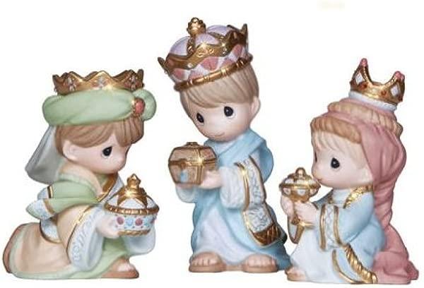Precious Moments We Three Kings 3 Piece Figurine Set Porcelain Christmas New 2013 131033 PM