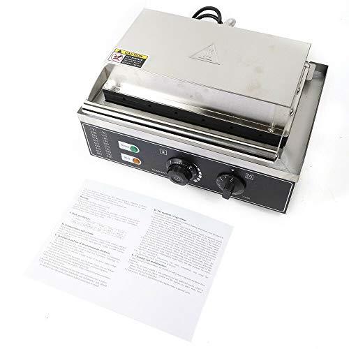 Máquina de Perritos Calientes 1500W Fabricante de acero Inoxidable Comercial con Temporizador para hacer Perrito de Maíz Gofres en Cocina del Apartamento