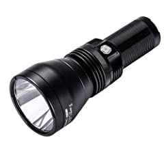 Niwalker Vostro BK-LR7SV1 Long Throw Search Light 2650 Lumens, 1900 meters throw distance, Magnetic ring control switch allows you to select desired output easily LED indicator turns red(below 12V) to alert user to switch lower output mode and rechar...