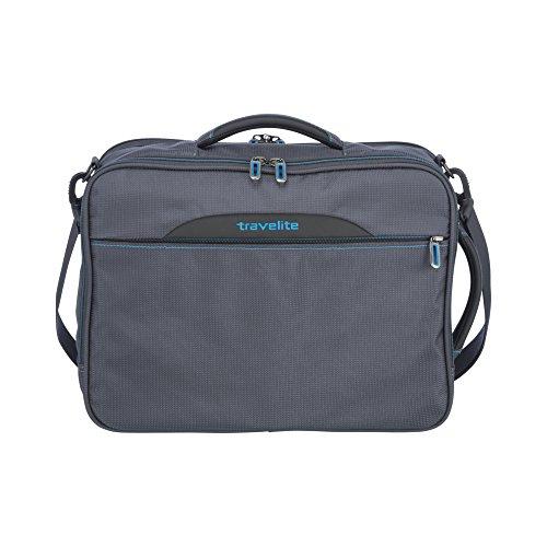 travelite Kombi Tasche / Rucksack mit Laptopfach + Aufsteckfunktion, Gepäck Serie CROSSLITE: Robuste Weichgepäck Reisetasche im Business Look, 089505-04, 42 cm, 23 Liter, anthrazit