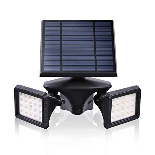 Motion Sensor Solar Light Outdoor, Dusk to Dawn Wireless Security LED Flood Light, 6000K Very Bright, Solar Powered Landscape Spotlights Waterproof for Garden/Driveway/Porch, EMANER (1-Pack)