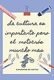 LA EDUCACION ES IMPORTANTE PERO EL MOTOCROS MUNCHO MAS: CUADERNO DE NOTAS | Diario, Apuntes o Agenda | Regalo Original y Divertido para Amantes del Motocross o Enduro.