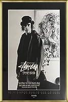 ポスター ステューシー ステューシー20th Anniversary プリント11 額装品 アルミ製ベーシックフレーム(ゴールド)