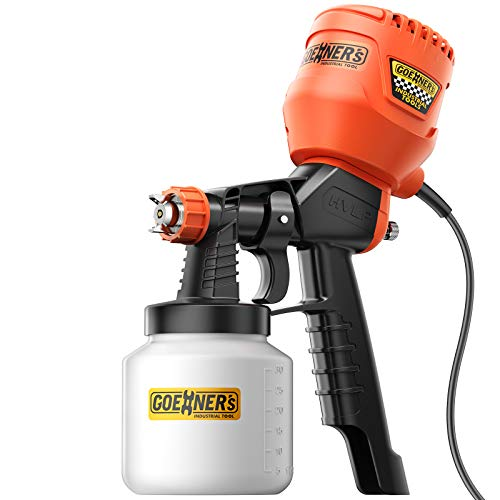 GOEHNER'S Paint Sprayer - High Power HVLP Electric Spray Gun with Jam-Free Metal Core, High Speed Response Motor, Detachable Paint Gun for House Painting, Home Interior and Exterior, Cabinet etc