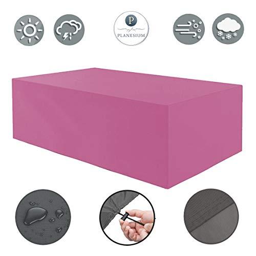 Planesium Housse de protection de qualité supérieure pour meubles de jardin - Housse de protection imperméable et respirante - Indéchirable - 575 g/m courants - 180 cm x 130 cm x 70 cm - Rose/rose