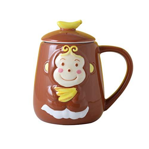 Xiaokeai Kaffeebecher Netter Ceramic Cup, Design Fein, Keramik Kaffeetasse, Keramik Teetasse Tee und Getränke, lustiges Geschenk, Kapazität (400ml_450ml) Kaffeetassen & Becher (Size : C)