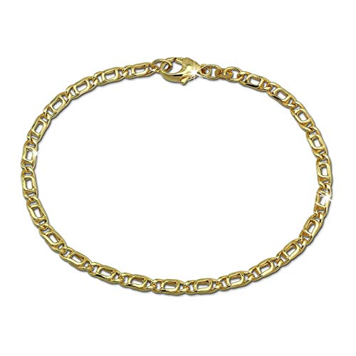 GoldDream Armband 333er Gelbgold Tigerauge 8 Karat 19cm Echt Schmuck D3GDA0439Y Gold, Gelbgold Armschmuck für die Frau, für den Mann