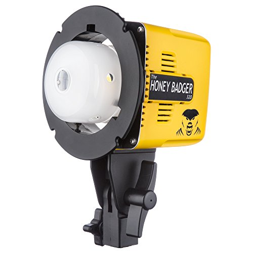 Interfit Honey Badger 320Ws Flash Head, Compact, Yellow (HB320)