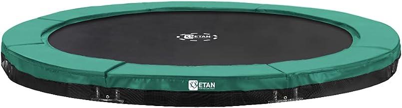 Etan Premium Gold Inground Trampoline - UV bestendig Randkussen - Groen/Grijs - Rond