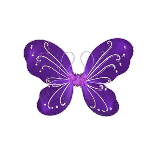 Butterfly Fairy Wings Kids for Women Girls Halloween Costume Party Favor Colorful Angel Wings 14'x 17' (Purple, 14'x 17')