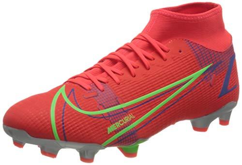 Nike Superfly 8 Academy FG/MG, Scarpe da Calcio Unisex-Adulto, BRT Crimson/Mtlc Silver-Indigo Burst-White-Rage Green, 42 EU