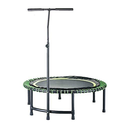 RY-tramp Fitness trampoline, binnenin met veiligheidsarmleuning, stabiel springen, vetverbranding, elastisch, aerobic-afslanking