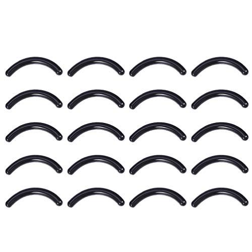 Minkissy Recharges de Recourbe-Cils Recharges de Remplacement de Recourbeur en Caoutchouc Recharges Outil de Maquillage pour Femmes Filles 100Pcs (Noir)