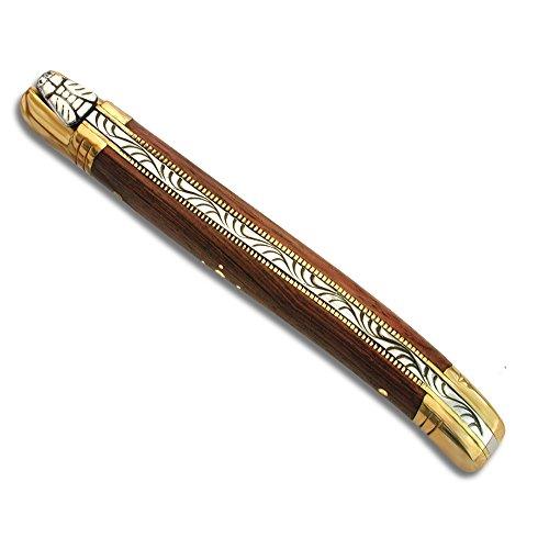 Laguiole Actiforge Laguiole-Messer, Griff aus Palisanderholz, französische Handwerkskunst, Rostfreies Metall, 9 cm