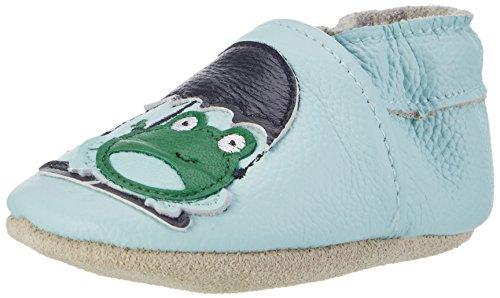 Rose & Chocolat Puddle Frog, Chaussures Bébé Marche Garçon Fille, Bleu Bleu, 28/29 EU