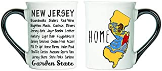 Cottage Creek New Jersey Gifts Large 18 Ounce Ceramic New Jersey Coffee Mug/New Jersey Mug [White]