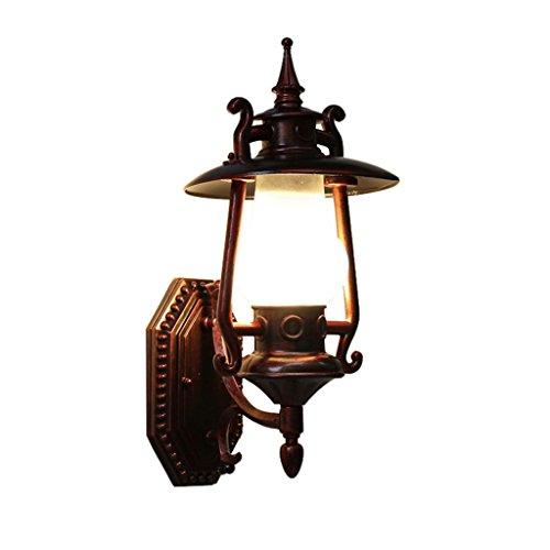 ZWL Lampe murale rétro, lumières murales créatives Pare-chaises extérieures pour patio Balcon Shop Lampe à pétrole à vapeur Lanterne à l'épreuve de l'extérieur avec pare-chocs Simple tête E27, 44 * 27.5CM mode ( taille : 44*20.7cm )