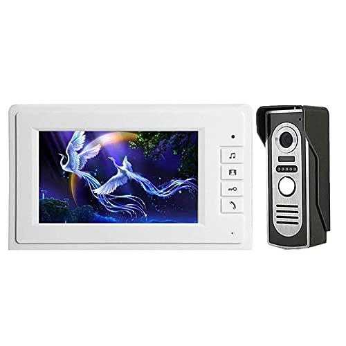 BJH Videoportero Kit de Sistema de Entrada de intercomunicador con Cable Video Timbre Teléfono Panel de Llamada a Prueba de Lluvia Cámara IR para casa Casa Edificio de Apartamentos