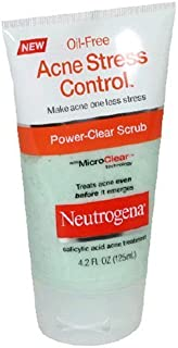 Neutrogena Acne Stress Control, Power-Clear Scrub, 4.2 Ounce (Pack of 3)