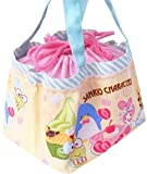 Hello Kitty & Friends Mix Characters Drawstring Lunch Box Bento Snack Compact Storage Bag Small Tote Bag Water Repellent Lining