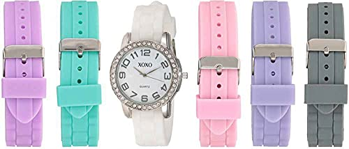 Analog Watch with Silver-Tone Case