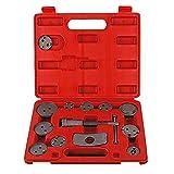 13 piezas de auto universal de la reparación de la bomba de precisión del calibrador del freno de disco del viento Volver Tool Kit de pastillas de freno de frenos de pistón de coches Herramienta de Ki