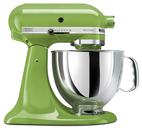 KitchenAid KSM150PSGA Artisan Series 5-Qt. Stand Mixer - Green Apple (Renewed)
