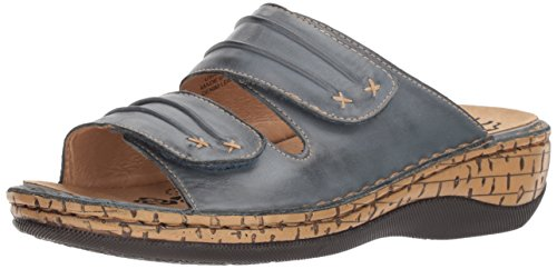 Propet Women's June Slide Sandal, Denim, 8 Wide US
