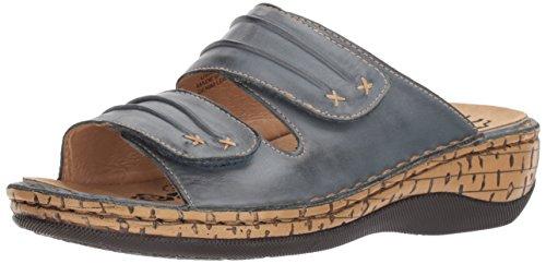 Propet Women's June Slide Sandal, Denim, 8 Wide US