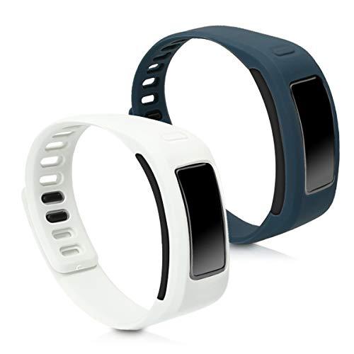 kwmobile Armband kompatibel mit Garmin Vivofit - 2X Silikon Fitnesstracker Sportarmband