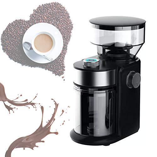 YSNJIN Haushalt Tragbare Kaffeemühle Elektrische Espresso Mahlmaschine Mit Edelstahl-Schleifscheibe Und Transparentem Deckel Für Kaffeebohnen