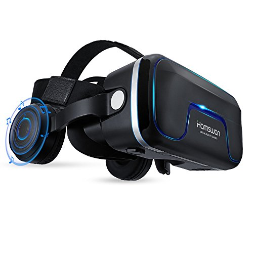 VR Headset, Virtual Reality Headset, VR Glasses, VR Goggles-for 3D VR Movies Video Games with Built-in Headphones with 120 Degree FOV for iPhone X 8 7 6/6s Plus, Samsung S6 S7 S8/Plus/Edge Note 8