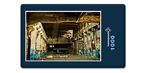 hansepuzzle 67946 Industrie - alte Lagerhalle, 1000 Teile in hochwertiger Kartonbox, Puzzle-Teile in wiederverschliessbarem Beutel.