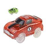Symiu Macchinine Giocattolo Cars per Pista 1 Veicoli con 5 LED Modellini Auto Compatibile con la Maggior Parte della Pista Giochi per Bambini 3 4 5 (Colori Consegnati Casualmente)