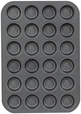 Chicago Metallic Mini Muffin Pan Dw Silverstone Safe Cup 24 Max 62% OFF Deluxe Non