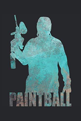 Paintball Spieler Schütze Geschenk Notizbuch (Taschenbuch DIN A 5 Format Liniert): Cooles Paintball Design Notizbuch, Notizheft, Schreibheft, ... Geschenk für Paintballspieler Herren Damen.