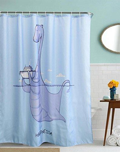GYMNLJY 3D Polyester Duschvorhang dicken wasserdicht geruchlos und Mehltau resistent Bad Dusche Schatten für Bad hängenden Vorhang abgeschnitten , 150x180