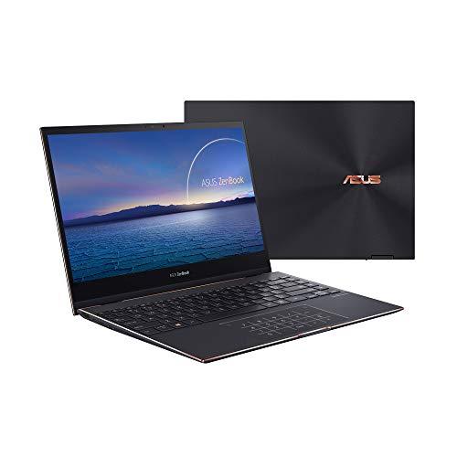 ASUS ZenBook Flip S UX371EA-HL259T - Ordenador portátil de 13.3' 4K Ultra HD (Intel Core i7-1165G7, 16GB RAM, 512GB SSD, Intel Iris Xe Graphics, Windows 10 Home) Negro Jade-Teclado QWERTY español