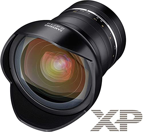 Samyang SAMXP14F24CANON - Objetivo XP 14mm F2.4 Canon Ae, Color Negro