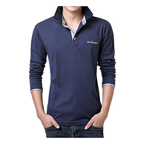 ZODOF camisa hombre camisas sport Nuevo Casual Comodo Moda Carta Camisa de impresión Manga larga Camisa Tops Blusa Moda para hombre shallgood camisa hombre(XL,E)