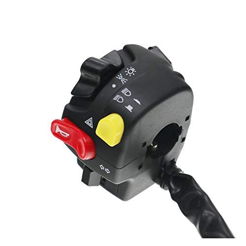 linger 7/8'Motoralilla Modificador Interruptor Interruptor Montaje Cuerno Alto/Baja Baja Faro Luz de Niebla Luz de Advertencia Interruptores de botón Pulsador