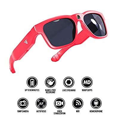 GoVision Royale Ultra HD Video Camera Sunglasses | Water Resistant Sunglasses Camera | 8MP Camera Glasses | Wide Angle View, Unisex Design, Stylish, Water Resistant and Lightweight Frame from Audy Global Enterprises Inc
